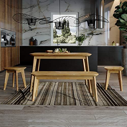 Krok Wood Paris Table à Manger en chêne Massif 110 x 75 x 75 cm