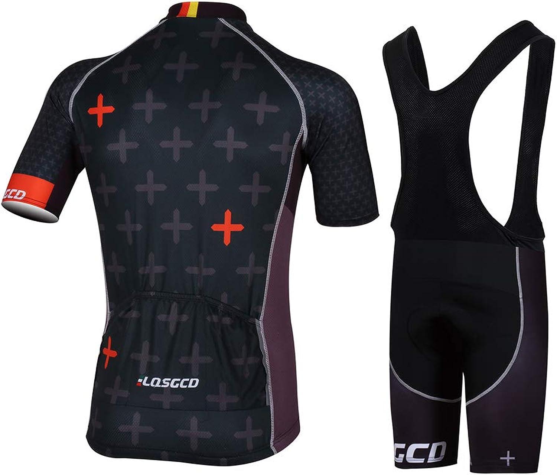 TTShonf Cycling Clothes Set,Men's Road Bike Short Sleeve Lightweight Unisex QuickDry Breathable TShirt Jersey Shorts Set 2  M