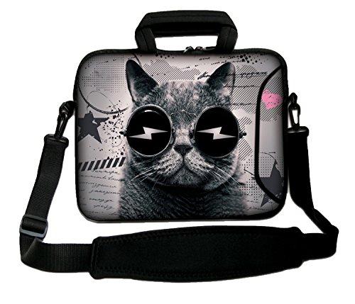 Luxburg 14 Inch Soft Messenger/Shoulder Strap Laptop Bag with Handle – Rave Cat Design