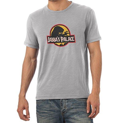 NERDO Herren Jabba's Palace T-Shirt, Grau Meliert, XXL