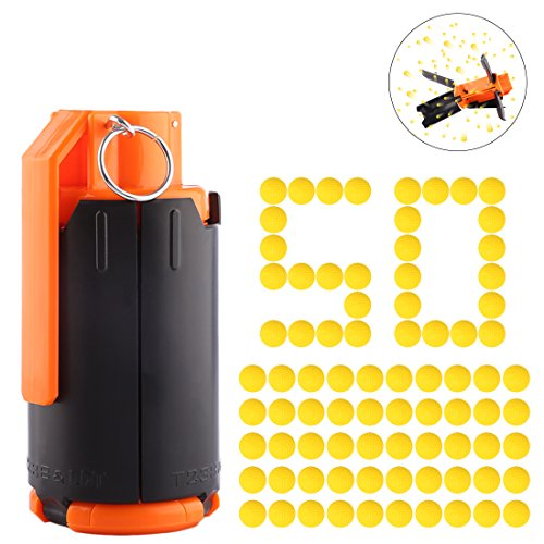FenglinTech Tactical Plastic Modified Crystal Water Bullet Bomb with 50PCS Rounds Refill Bullet Balls Ammo - (As Shown)