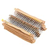 Resistencias carbono electronica 860 unids,Resistencias de película de carbono 1/4W 1 ohm-1M Surtido Kit 43 valores Componentes electrónicos