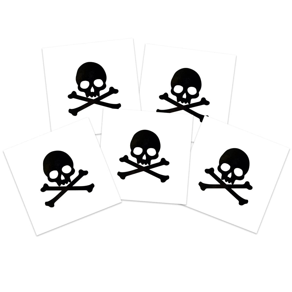 Black Skull Crossbones Very popular Temporary 5-Pack Safe Skin Tattoos Our shop most popular