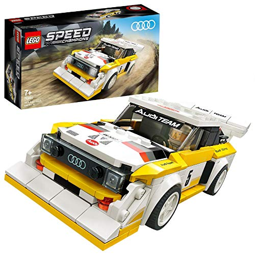 Speed Champions LEGO 76897 Audi Sport quattro S1 Racer Toy, with Racing Driver Minifigure, Race Cars Building Sets
