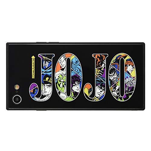 グルマンディーズ バンダイ TVアニメ「ジョジョの奇妙な冒険」シリーズ iPhoneSE(第2世代)/8/7(4.7インチ)対応スクエアガラスケース スターダストクルセイダースver. JJK-55C ブラック