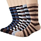 YSense 6 Pairs Mens Fuzzy Socks Winter Slipper Fleece Socks Men