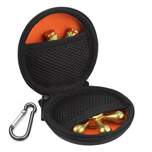 Fidget Spinner Protective Case / Finger Spinners Round Carrying Case / Able to Storage Two Figit, Compatible with Triangle, Round and Many Other Shaped Fidgets / Hard Shell with Soft Inner