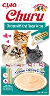 INABA Churu Sticks - Lickable Cat Treats To Feed From Hand - Delicious And Healthy Snack for Cats - ...
