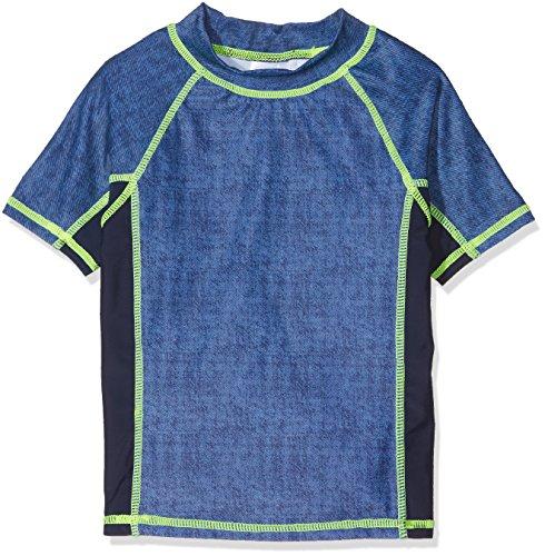 DIMO-TEX Sun Schwimm-Shirt Kurzarm UV-Schutz 50, Nuoto Bambino, Multicolore Navy, Jeans, 7 Anni