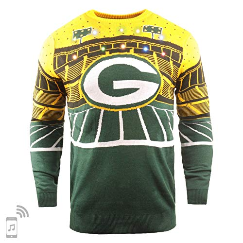 FOCO NFL Ugly Sweater Xmas LED Pullover - Green Bay Packers - XXL