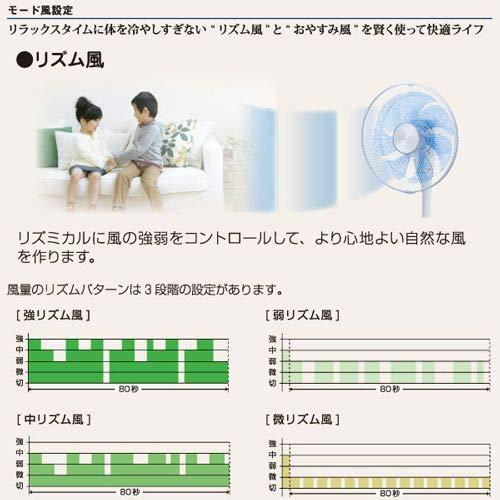 Wタッチセンサーリビング扇風機YT-C3356YFR(K)