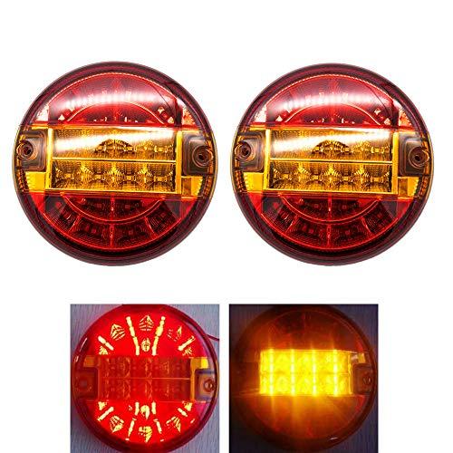 2x 20 LEDs Rücklichter 12 / 24V Bremsleuchte IP65 Wasserdichte Bremslichter für LKW Van Anhänger Wohnwagen Wohnmobil usw.