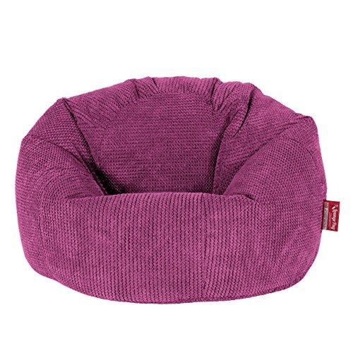 Lounge Pug, Klassischer Sitzsack Sessel, Pom-Pom Pink