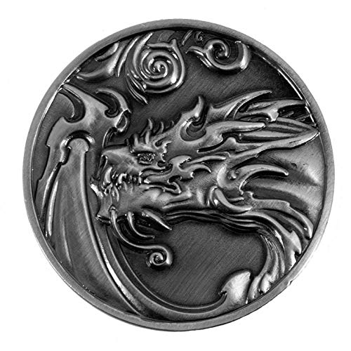 Paladin Roleplaying Dragon D2 Coin - Antique Silv