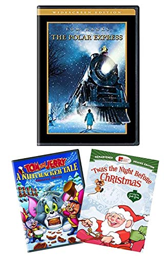 Polar Express (Widescreen Edition) + 2 Bonus Holiday Christmas Classics - Tom & Jerry: A Nutcracker Tale / 'Twas the Night Before Christmas (Remastered Edition) [DVD]
