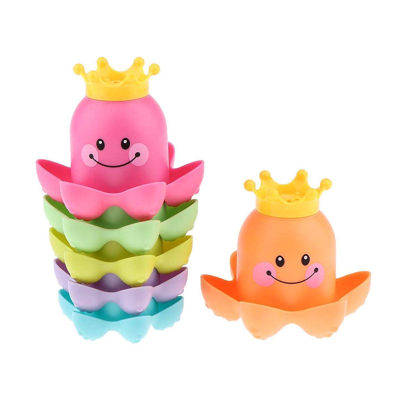 Perfeclan 赤ちゃん お風呂用おもちゃ 水遊び びタコ おもちゃ ネスティングゲーム 子供 反応訓練 知育玩具