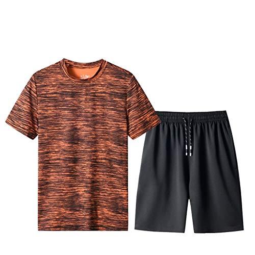 Chándales de chándal de 2 piezas para hombre pantalones cortos y camiseta de ocio camuflaje impresión manga corta pantalones cortos de deportes conjuntos de verano pijamas