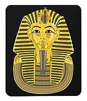 ツタンカーメン 黄金のマスクのマウスパッド(イラスト版):フォトパッド(古代エジプトシリーズ) (A:黒)