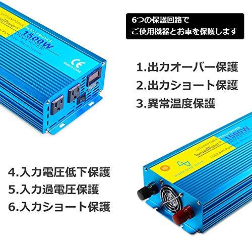 LVYUAN(リョクエン)『インバーター正弦波12V1500W』