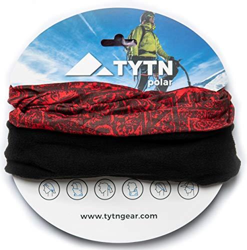 TYTN Neck Warmer Head Scarf - Multifunctional Bandana for outdoor wear - Microfiber & Polar Fleece