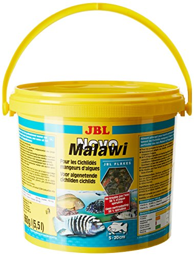 JBL NovoMalawi 30012, Alleinfutter für algenfressende Buntbarsche, Flocken, 5,5 l