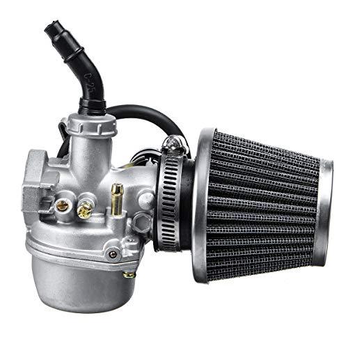 ZHVIVY 19mm Vergaser Vergaser + Luftfilter für Mini Motor ATV Quad 50/70/90/110 / 125cc
