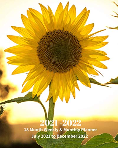 Compare Textbook Prices for 2021 - 2022 | 18 Month Weekly & Monthly Planner July 2021 to December 2022: Sunny Sunflower Monthly Calendar with U.S./UK/ ... & Economics Office Equipment & Supplies  ISBN 9798700346900 by Book Press, Dazzle
