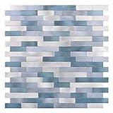 GuoQiang Zhou Adhesivo decorativo para pared de cocina, superficie de aluminio, autoadhesivo, para decoración del hogar, color A, tamaño mediano)