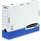 Fellowes Bankers Box 00236 - Caja de archivo definitivo automático, A3, lomo 100 mm, blanco y azul (10 unidades)