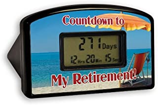 BigMouth Inc.Retirement Countdown Timer, Beach Themed –Countdown Clock for Retirement, Can be Reset, Makes a Great Gift