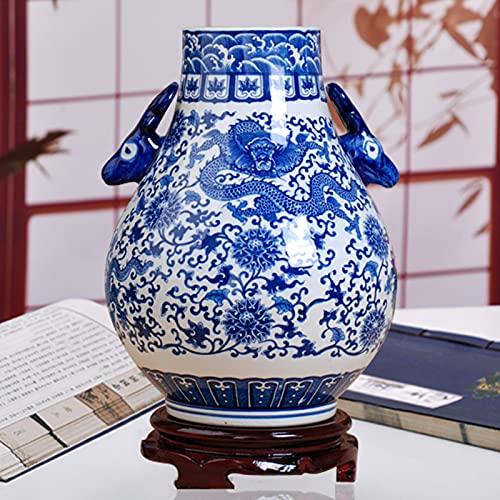 Porcelana Jarrón Artificial De Flores Antiguo Jarron De Ceramica Mesa Jarrones Exquisito...