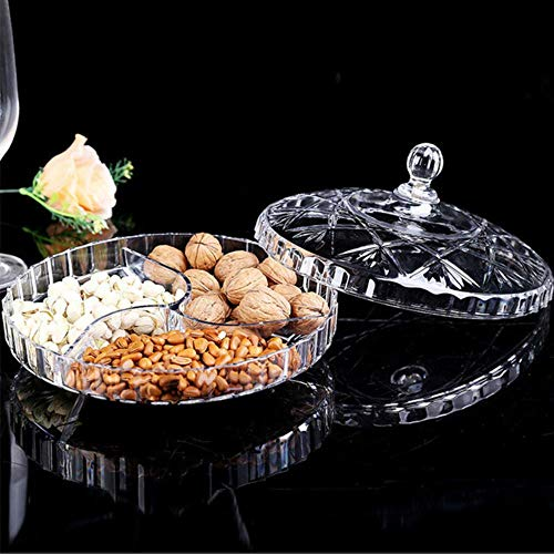 Kakymjxnj Obstkiste Tablett Süßigkeiten Snack Aufbewahrungsbox 1 Stück Wohnzimmer mehrlagig getrocknete Früchte Teller groß