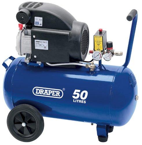 Draper 24981 Air Compressor, 50L, 230V, 1.5Kw, Blue