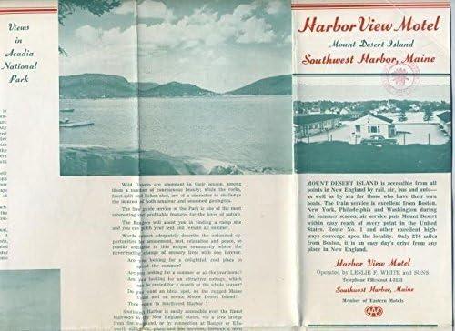 Harbor View Motel 2021 Brochure Regular dealer 1960's Desert Maine Mount