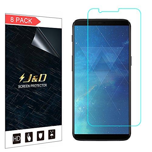 J&D Compatibile per 8 Confezioni OnePlus 5T Schermo Protettivo, [Non Piena Copertura] Premium HD Chiara Pellicola Difesa Protettore per OnePlus 5T