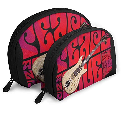 NR-Gitarre im besonderen Hintergrund Frauen Reise-Kosmetiktaschen Wasserdichtes GewebeKleine Make-up-Clutch-Tasche Kosmetik- und Toilettenartikel-Organizer-Tasche Tragbarer Reise-Kulturbeutel
