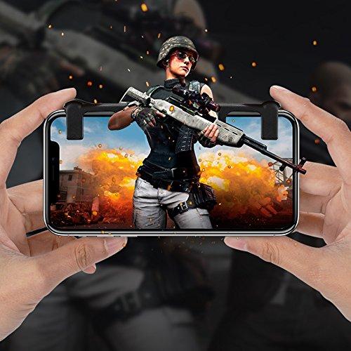ajzdnzvr controle de disparo para celular gamepad L1R1 PUBG V1.0 FUT1, botões sensíveis de disparo e apontar