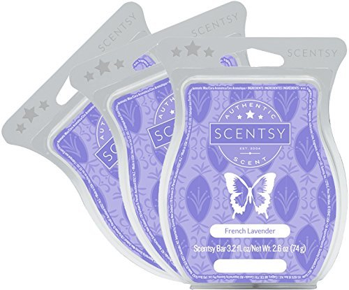 Scentsy, French Lavender, Wickless Candle Tart Warmer Wax 3.2 Oz Bar, 3-Pack (3)
