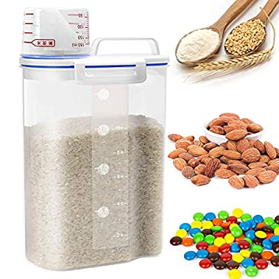 Rice Cereal Container Storage - Airtight Dry Fo...