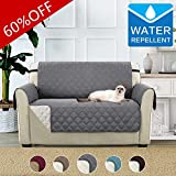 BellaHills Waterproof Sofa Protectors 2 Seater from Pets/Dogs Couch Covers Love Seat Cover