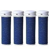[Set de 4] Canwn Extrarugosos Rodillos Lijadores para Recambio de Emjoi Micro Pedi(Azul)