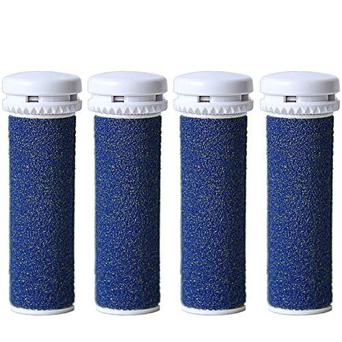 [4 Stück] Canwn Extra Grob Mineral Ersatzrollen für Emjoi Micro Pedi Hornhautentferner Nachfüll-Rollen(Blau)