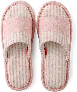JERPOZ Zapatillas De Casa Ropa Interior De Algodón Zapatillas De Interior Hombre Y Mujer Zapatillas De Algodón con Memoria De Punta Expuesta Zapatillas de algodón (Color : E)