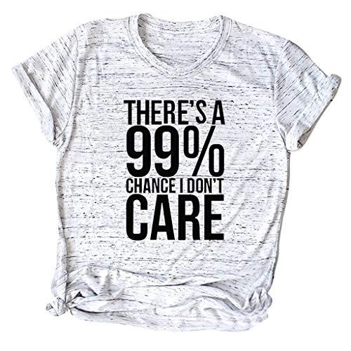 Xmiral T-Shirt Damen Kurzarm Oansatz Tops Sommer Gedruckt Niedlich Shirts Bluse Mode Chic Casual Wild Elegante Sweatshirt Für Partyabend Hochzeit Sandy Beach(B Grau,4XL)