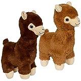 ArtCreativity Llama Plush Toys, Set of 2, Stuffed Llama Toys for Kids, Soft Plush Material, Baby Nursery Décor, Creative Boys' and Girls' Room Decorations, Animal Party Décor