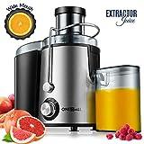 Centrifuga, Oneisall Estrattore di Succo a Freddo con Funzione Antigoccia, Ultrarapida per Frutta e Verdura, Facile da Pulire con Motore Silenzioso e Piedini Antiscivolo, Acciaio Inox e Senza BPA