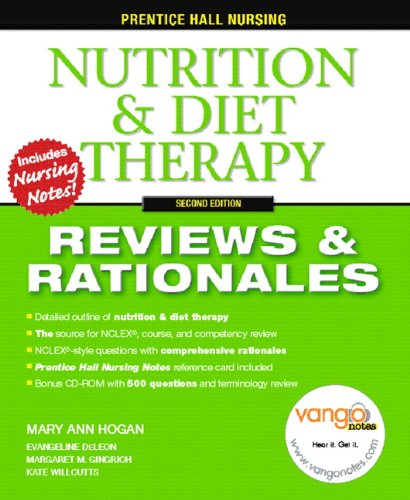 Compare Textbook Prices for Prentice Hall Reviews & Rationales: Nutrition & Diet Therapy 2 Edition ISBN 9780132437127 by Hogan, Mary Ann,Gingrich RN  MSN, Margaret M.,Willcutts MS  RD  CNSD, Kate,DeLeon RN, Evangeline
