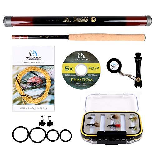 M MAXIMUMCATCH Maxcatch Tenkara Fishing Rod/Rod Combo 9/10/11/12/13ft/Triple Zoom 8'3''/9'6''/10'6'',10'8''/11'10''/12'9''
