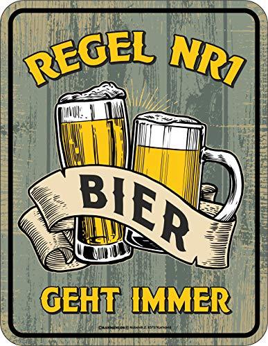 RAHMENLOS Deko Blechschild - Bier geht Immer