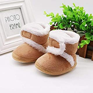 Baby Uggies Warm Boots Winter Brown Tan Booties (18-24 Months (12.5cm))